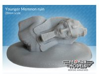 Younger Memnon statue ruin 28mm scale