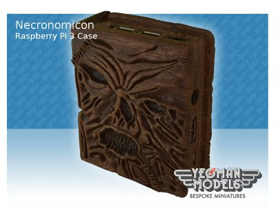 Necronomicon 3D Printed Wood Raspberry Pi 3 Case