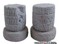 Pair of Ancient Egyptians Pillar Ruins